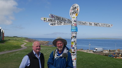 Brian met by Island Councillor for Wick and East Caithness, Willie MacKay.