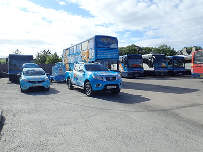 Bluebell Bus leaving Thurso