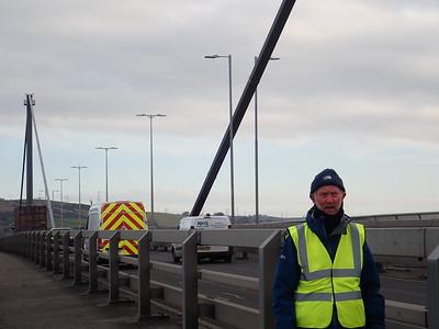 Brian crossing The Erskine Bridge