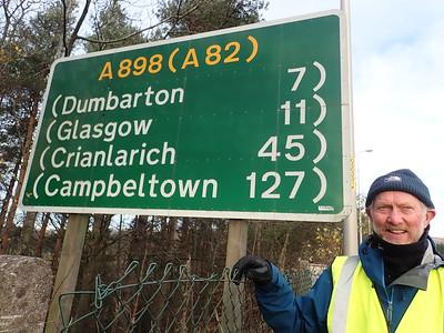 Signage at the Erskine bridge