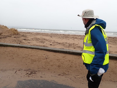 Walking along the Troon beach front