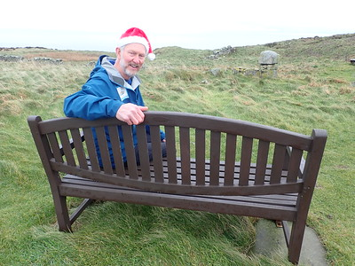 A bench to sit and ponder, looking out towards Arran Island,