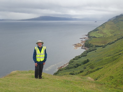 Walking the cliff top south of Staffin