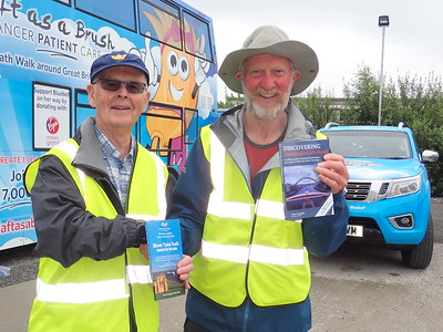 Author, Peter Donaghy with Brian Burie