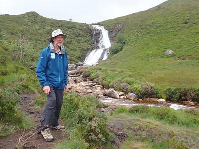 Brian passed an impressive waterfall