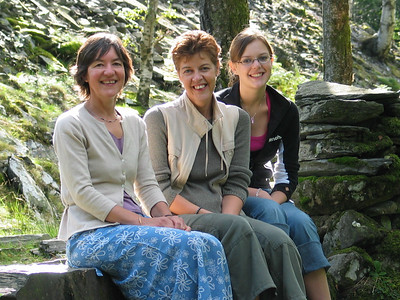 Gill, Alison and Connie in Langdale