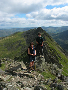 Gill and George Donkin, Striding Edge, August 2004.