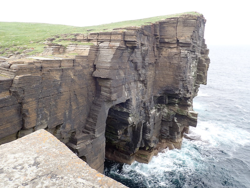 Dramtic cliffs and Caithness slate