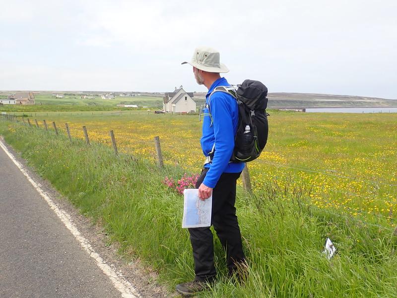 Brian Burnie walking from John O'Groats