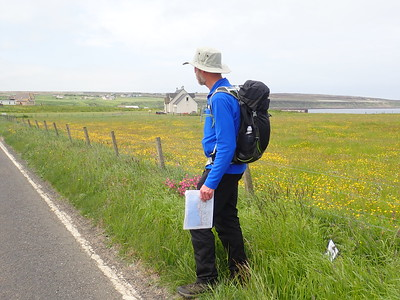 Brian Burnie walking from John O'Groats