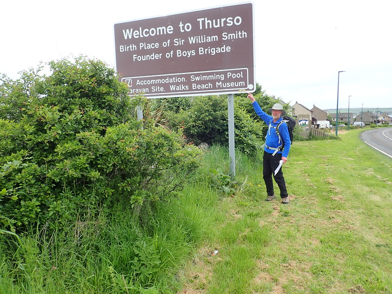 Arrival in Thurso, Northern Scotland