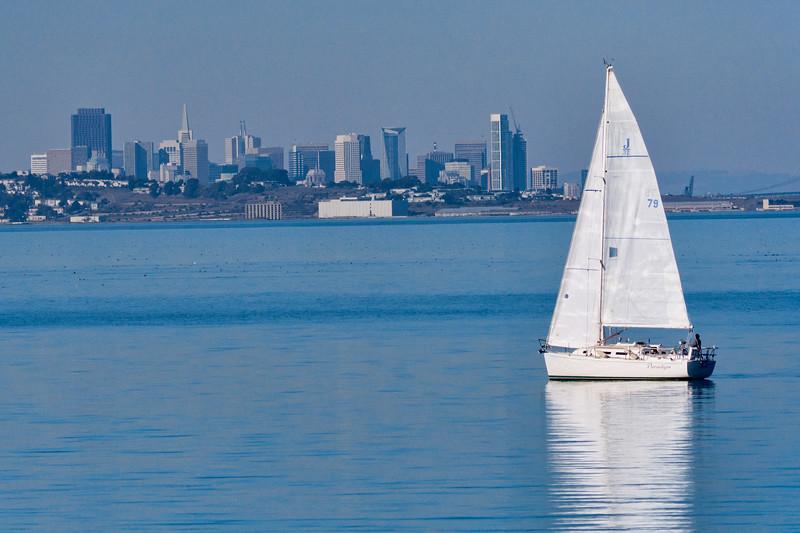 Sailboat and San Francisco