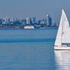 Sailboat and San Francisco