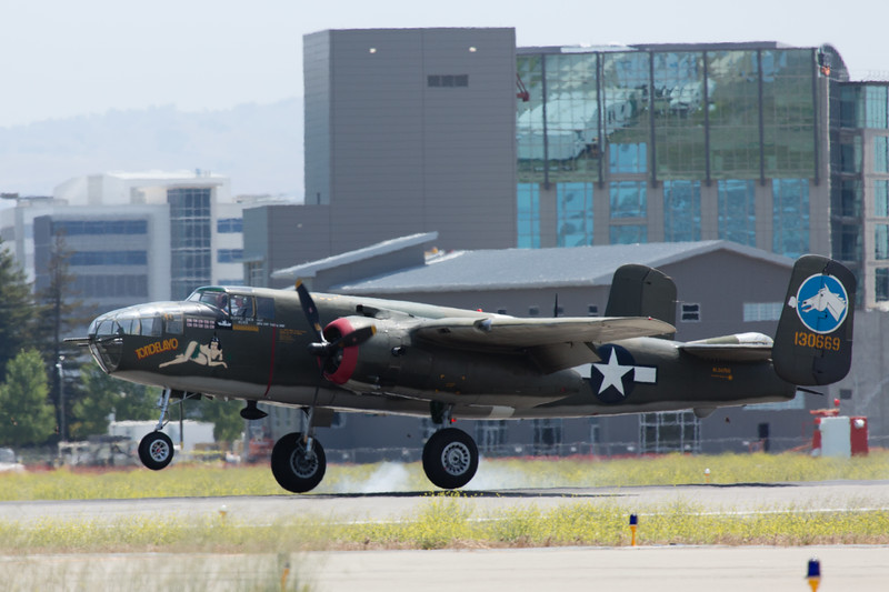 B-25 shortly after landing