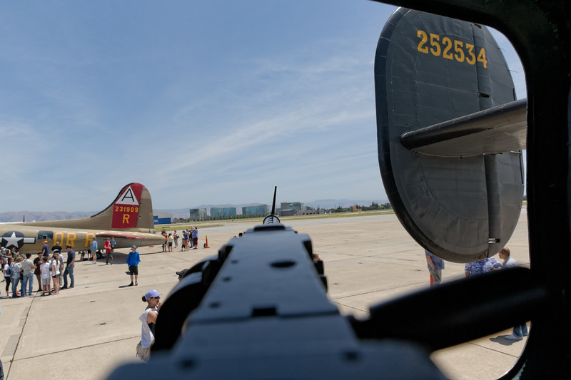 B-24 Gunner View