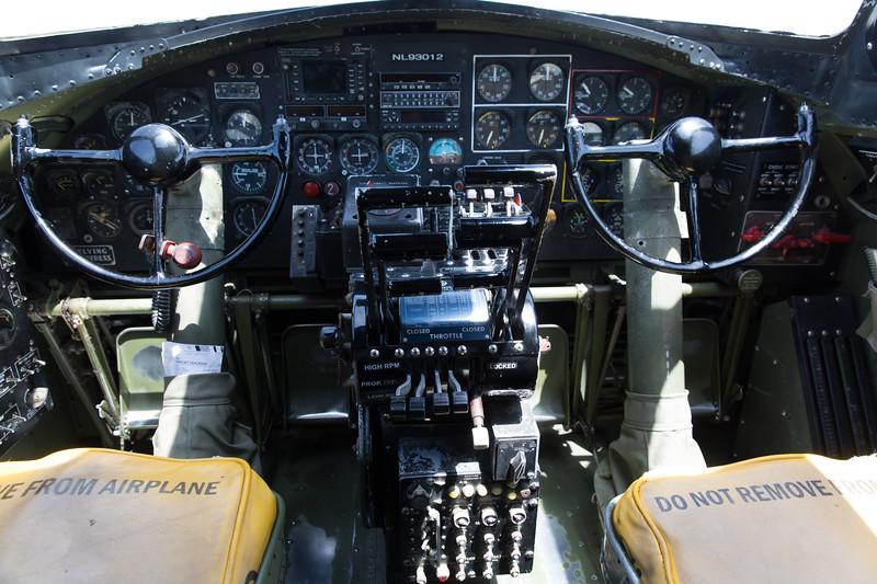 "B-17G ""Nine O Nine"" Cockpit"