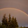 Sun, rain, rainbow