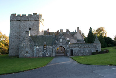 The entrance to Drum Castle