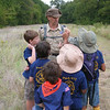 Cub Scout Pack 972 from McKinney, Texas work on their conservation merit badge at the Connemara Meadow Preserve.
