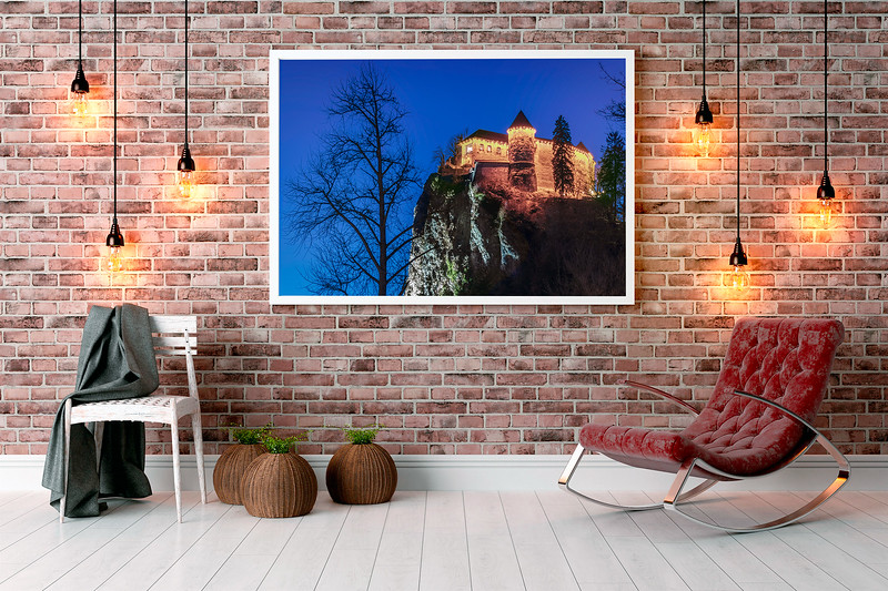 Example of my Wall Art: Bled Castle