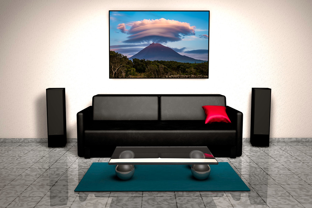 Example of my Wall Art: Mount Pico wearing a Turban