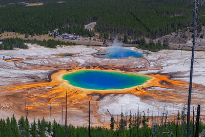Grand Prismatic Spring, Yellowstone National Parl. Wyoming, USA.