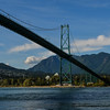 July 16, 2015. The lionsgate bridge in Vancouver BC on a sunny summer day. Photo by Scott Brammer - coastphoto.com