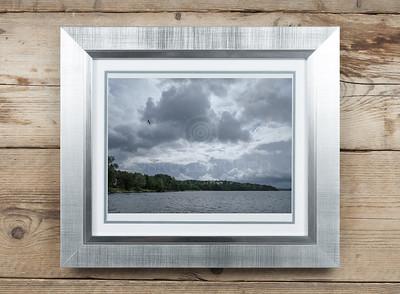 Lake Pyhä At Rain VI Framed