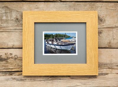 Lovely Boat Framed