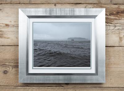 Lake Pyhä At Rain Framed