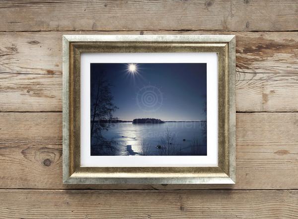 Aurinko Ja Jää Pyhäjärvellä Framed