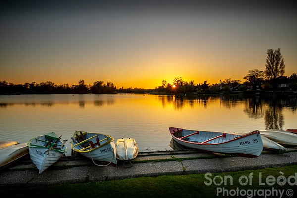 Sunset at Thorpeness Meare - Suffolk