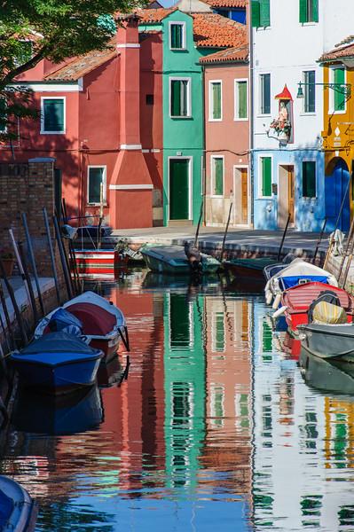 Boats in Murano, Italy