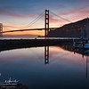 Golden Gate Bridge at sunset from Fort Baker