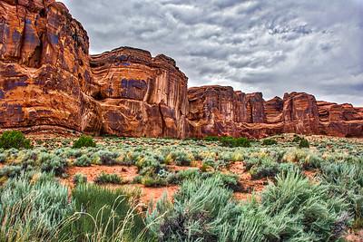 Cliffs at Arches National Park