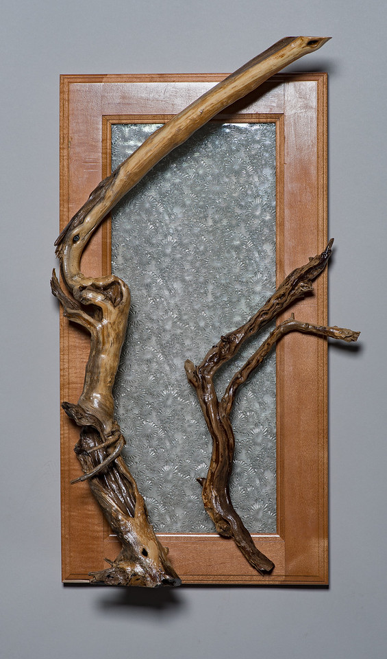 Framed Roots with Textured Glass
