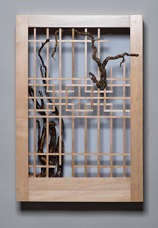 SOLD! Framed Lattice with Roots