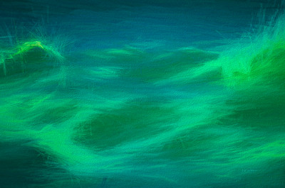 Wave Paint in Green