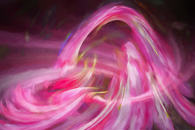 Pink Brush Strokes