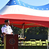 "Keynote speaker LTC Efrem Z. Slaughter Commander Fort Devens speaks to a crowd of Fitchburg Locals during a ceremony on Thursday at Crocker Field in Fitchburg commemorating ""The Wall That Heals.""  SENTINEL & ENTERPRISE JEFF PORTER"