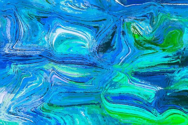true blue and malachite ...