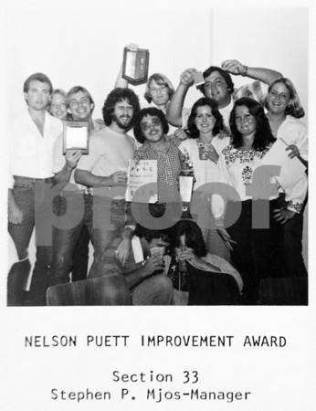 Nelson Puett Improvement Award, Section 33, 1976-77