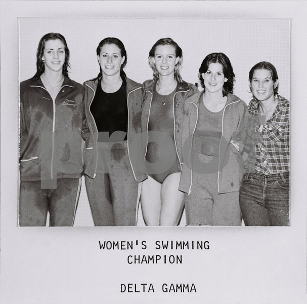 Women's Swimming Champs, Delta Gamma, 1977-78