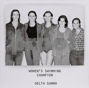 Women's Swimming Champs, Delta Gamma, 1977-78