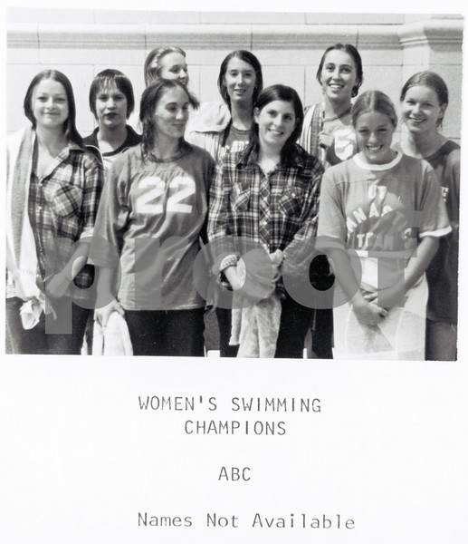 Women's Swimming Champions 1975-76: ABC