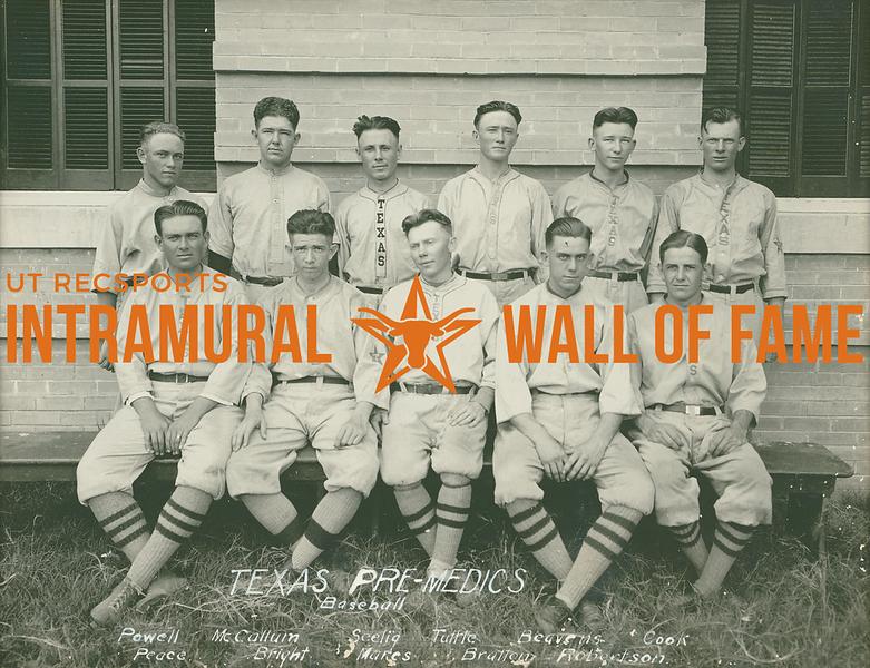 BASEBALL  Texas Pre-Medics  R1: Powell, McCallum, Scelig, Tuttle, Beavens, Cook R2: Robertson