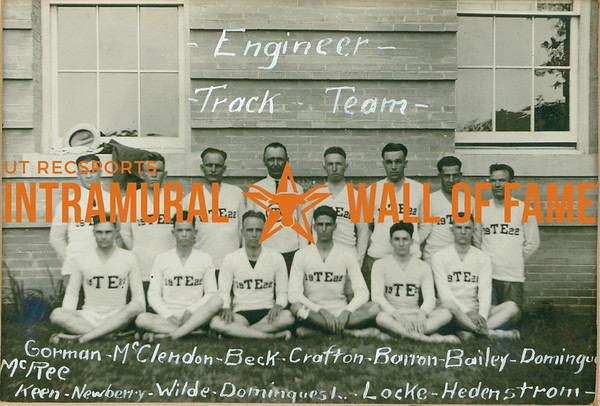 TRACK  Engineer  R1: Gorman, McClendon, Beck, Crafton, Barron, Bailey, Domingues, McRee R2: Keen, Newberry, Wilde, Domingues L., Locke, Hedenstrom