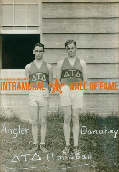 HANDBALL  Delta Tau Delta   Angler & Donahey