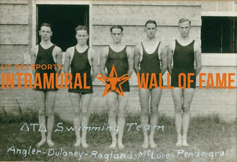 Swimming  Delta Tau Delta  Angler, Dulaney, Ragland, McClure, Pendergrass