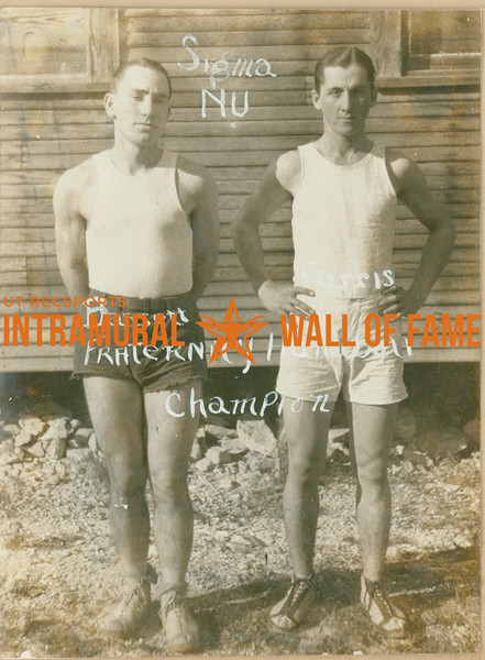 HANDBALL Fraternity Champion  Sigma Nu  Bassett & Farris
